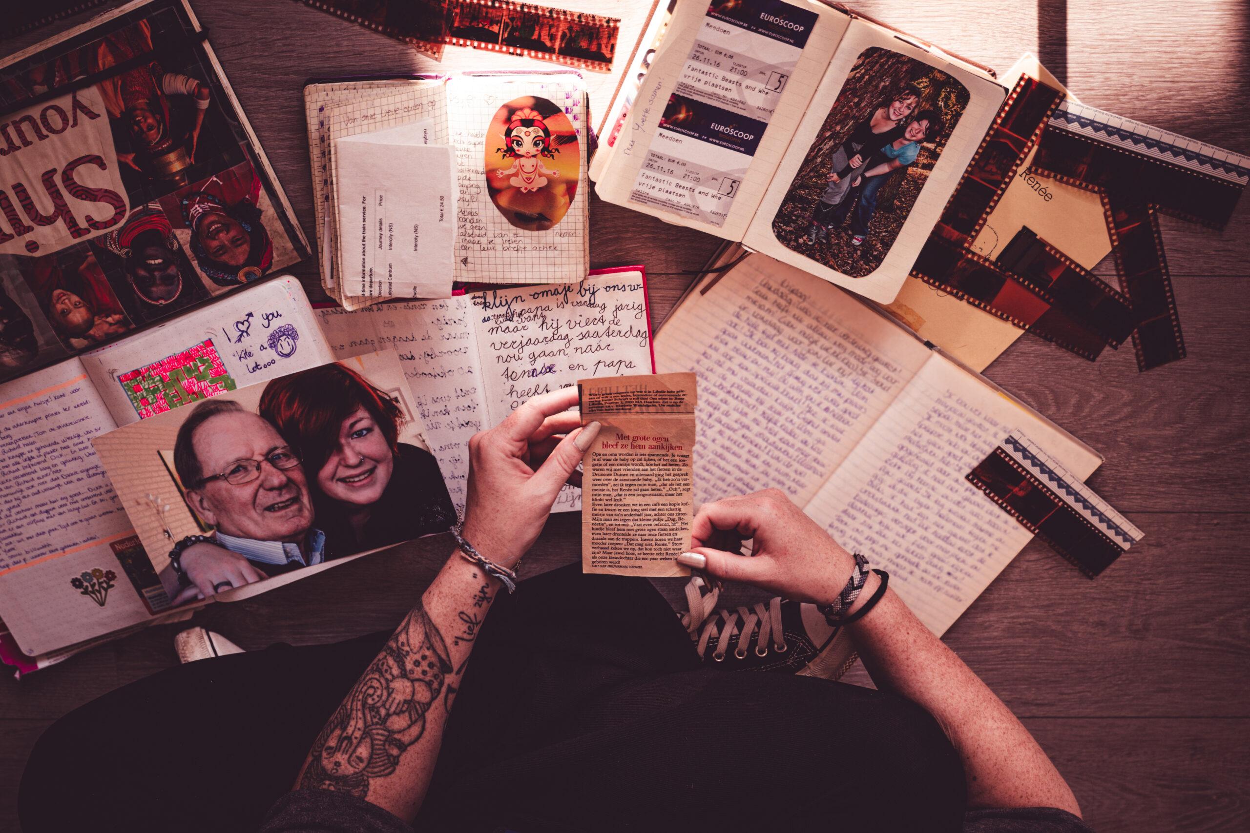 mijn nostalgie met dagboeken en foto's in Tilburg